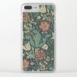 William Morris Compton Floral Art Nouveau Clear iPhone Case