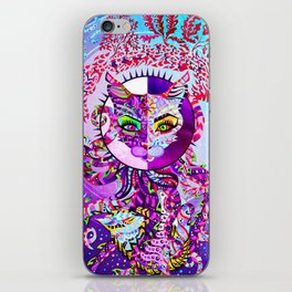 Cat and dog iPhone Skin