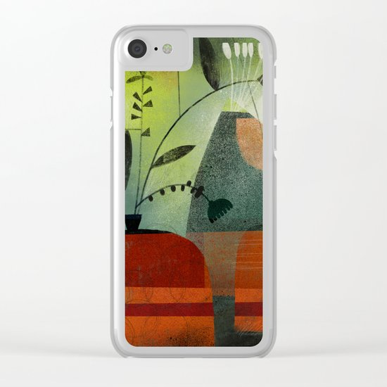 LAYERED VASES Clear iPhone Case