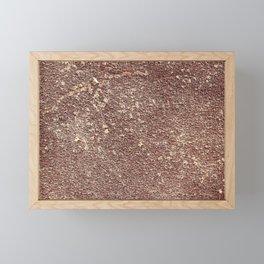 Burgundy Sandpaper Texture Framed Mini Art Print