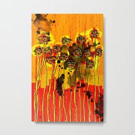 The Fence with Fragrances Metal Print