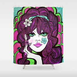 Psychedelic Flower Child Shower Curtain