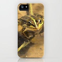 Marsh Frog iPhone Case