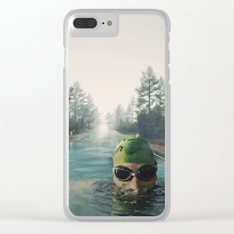 Swimming in the forest Clear iPhone Case