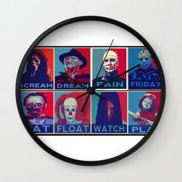 horror icons Wall Clock