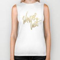 wanderlust Biker Tanks featuring Wanderlust by Tamsin Lucie