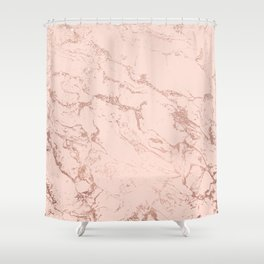 Modern rose gold glitter ombre foil blush pink marble pattern Shower Curtain