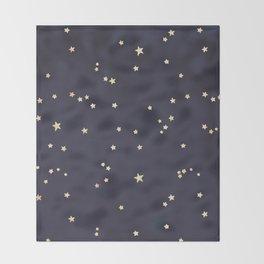 Gold Stars Throw Blanket