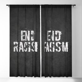 End racism, fight for your rights Blackout Curtain