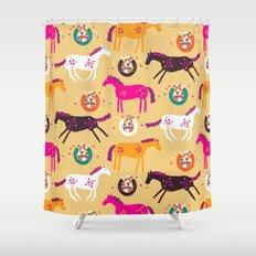 Lucky Horses Shower Curtain