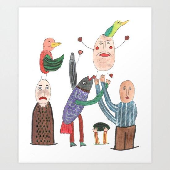 Crazy Egg. Art Print