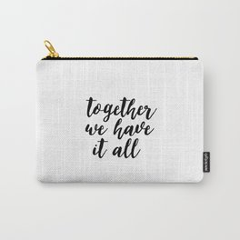 Kitchen Decor,Quote Prints,Home Decor,Quote Art,Hand Lettering,Home Decor,Funny Print,Together We Ha Carry-All Pouch