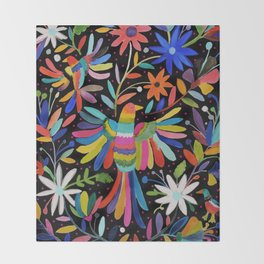 pajaros Otomi Throw Blanket