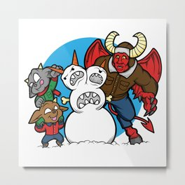 Hell Freezes Over Snowman Metal Print
