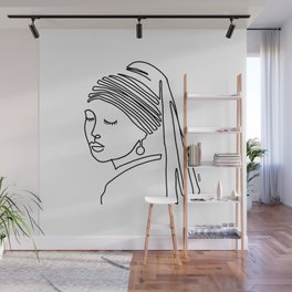 Girl with a pearl earring Wall Mural