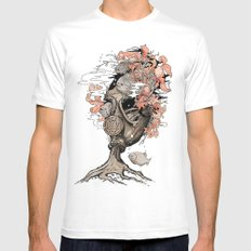 Breath LARGE White Mens Fitted Tee