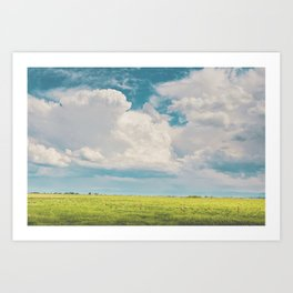 Gallatin County Storm Clouds Art Print