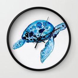 Sea Turtle, Watercolor Print, Turtle Art, Turtle Illustration, Sea,Turtle, Nursery Wall Clock