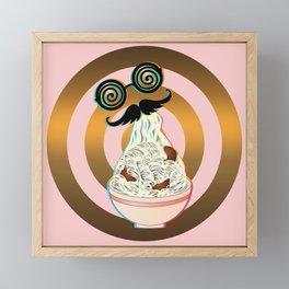 Mad ramen eater Framed Mini Art Print