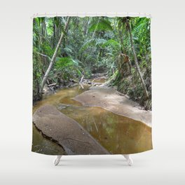 The Holy Spirit deep-forest river explorations in El Yunque rainforest PR Shower Curtain