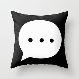 Talk Bubble Speechless Throw Pillow