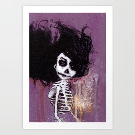 骸骨 参 Art Print