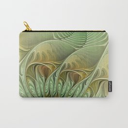Behind the Hills, Abstract Fractal Art Carry-All Pouch