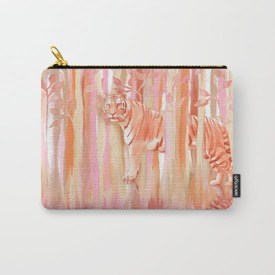 Tiger in the Trees - Painting / Collage Carry-All Pouch