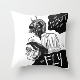 The Mutant from the Fly Throw Pillow