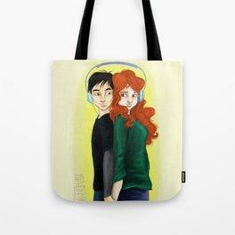 Eleanor & Park with headphones Tote Bag