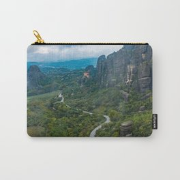 Meteora Monastery Landscape Carry-All Pouch