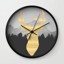 Mountain Life Print Wall Clock