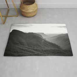 Linville Gorge Pisgah National Park Mountain Art  Rug