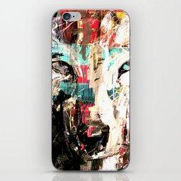 Silverwolf, wolf, painting, wolfpack. iPhone Skin