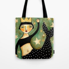 Vintage Mermaid Tote Bag