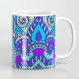 V13 Colored Floral Abstract ART Painting Coffee Mug
