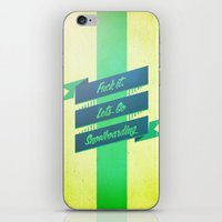 snowboarding iPhone & iPod Skins featuring Snowboarding by Cohen McDonald