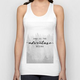 And So The Adventure Begins Unisex Tank Top