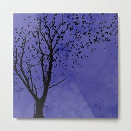Purple Flight Metal Print
