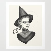 witchcraft Art Prints featuring Witchcraft by Caitlin McCarthy