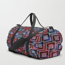 Black and White Squares Pattern 04 Duffle Bag