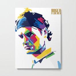 RF Roger Federer Tennis Metal Print