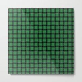 Small Dark Green Weave Metal Print