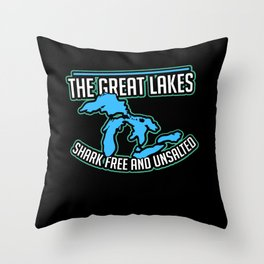The Great Lake Throw Pillow