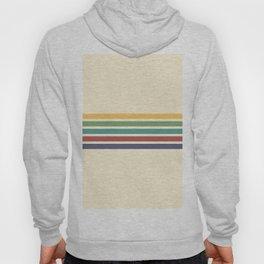 Abstract Minimal Retro Stripes 70s Style - Yoshimitsu Hoody