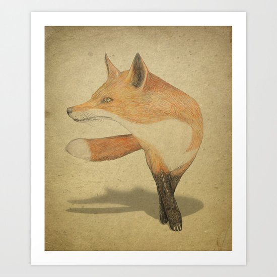 Cool Fox Art Print
