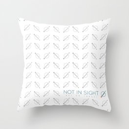 Not In Sight Gallery | Art On Target Throw Pillow