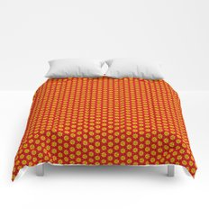 red and yellow Comforters
