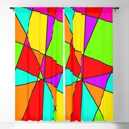 Neon Stained Glass Blackout Curtain