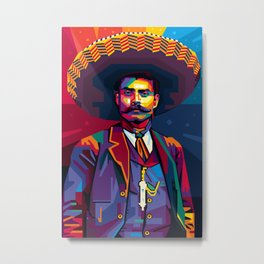 Emiliano ZAPATA - Viva Zapata! - Revolution - Zapatista - El Mexican - digital art Metal Print